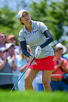 Marina Alex (USA) watches her tee shot on 1 during Sunday's final round of the 72nd U.S. Women's Open Championship, at Trump National Golf Club, Bedminster, New Jersey. 7/16/2017.<br /> Picture: Golffile | Ken Murray<br /> <br /> <br /> All photo usage must carry mandatory copyright credit (&copy; Golffile | Ken Murray)
