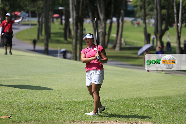 Mirim Lee (KOR) on the 1st fairway during Round 4 of the HSBC Women's Champions at the Sentosa Golf Club, The Serapong Course in Singapore on Sunday 8th March 2015.<br /> Picture:  Thos Caffrey / www.golffile.ie