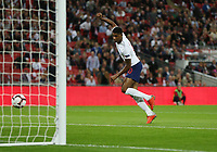 England's Marcus Rashford scores his side's first goal<br /> <br /> Photographer Rob Newell/CameraSport<br /> <br /> UEFA Nations League - League A - Group 4 - England v Spain - Saturday September 8th 2018 - Wembley Stadium - London<br /> <br /> World Copyright &copy; 2018 CameraSport. All rights reserved. 43 Linden Ave. Countesthorpe. Leicester. England. LE8 5PG - Tel: +44 (0) 116 277 4147 - admin@camerasport.com - www.camerasport.com