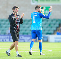 Lincoln City manager Danny Cowley applauds the fans at the final whistle<br /> <br /> Photographer Chris Vaughan/CameraSport<br /> <br /> The EFL Sky Bet League One - Lincoln City v Fleetwood Town - Saturday 31st August 2019 - Sincil Bank - Lincoln<br /> <br /> World Copyright © 2019 CameraSport. All rights reserved. 43 Linden Ave. Countesthorpe. Leicester. England. LE8 5PG - Tel: +44 (0) 116 277 4147 - admin@camerasport.com - www.camerasport.com