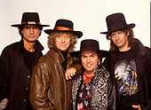 SLADE - L-R: Don Powell, Noddy Holder, Dave Hill, Jim Lea - 1991.  Photo credit: Ray Palmer Archive/IconicPix