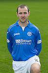 St Johnstone FC 2014-2015 Season Photocall..15.08.14<br /> Dave Mackay (Captain)<br /> Picture by Graeme Hart.<br /> Copyright Perthshire Picture Agency<br /> Tel: 01738 623350  Mobile: 07990 594431