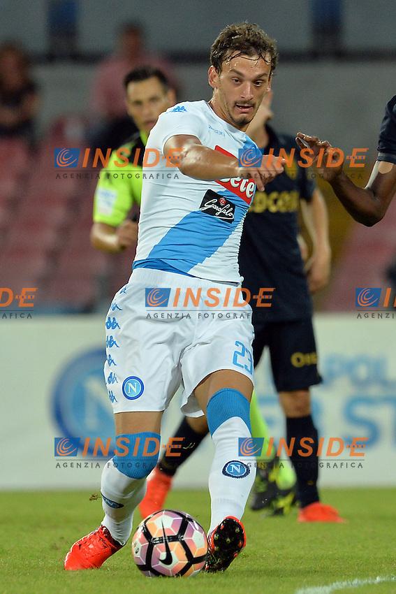 Manolo Gabbiadini Napoli<br /> Napoli 7-08-2016  Stadio San Paolo<br /> amichevole / friendly match.<br /> Napoli - Monaco<br /> Foto Antonietta Baldassarre / Insidefoto