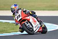October 27, 2018: Khairul Idham Pawi (MAL) on the No.89 KALEX from Idemitsu Honda Team Asia during the Moto2 practice session three at the 2018 MotoGP of Australia at Phillip Island Grand Prix Circuit, Victoria, Australia. Photo Sydney Low