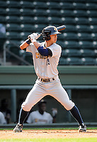 Infielder Robert Refsnyder (15) of the Charleston RiverDogs in a game against the Greenville Drive on Saturday, April 6, 2013, at Fluor Field at the West End in Greenville, South Carolina. Charleston won Game 1 of a doubleheader, 6-2. (Tom Priddy/Four Seam Images)  .