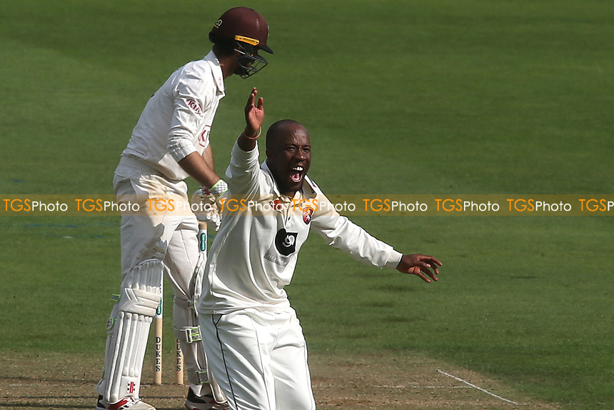 Kent bowler, Daniel Bell-Drummond appeals for an lbw, but Surrey's Ben Foakes was given not out  during Surrey CCC vs Kent CCC, Specsavers County Championship Division 1 Cricket at the Kia Oval on 7th July 2019
