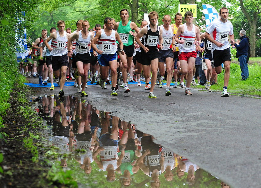 Pictured is the start of the Woodhall Spa 10k race<br /> <br /> Over 1,000 people have taken part in the 2010 Woodhall Spa 10k road race and fun run on Sunday, June 6, 2010<br /> <br /> Picture: Chris Vaughan/Lincolnshire Echo<br /> Contact: No Contact<br /> E-mail: <br /> Requested By: Rob Rowlands<br /> Date: Sunday 6th June 2010<br /> LN4
