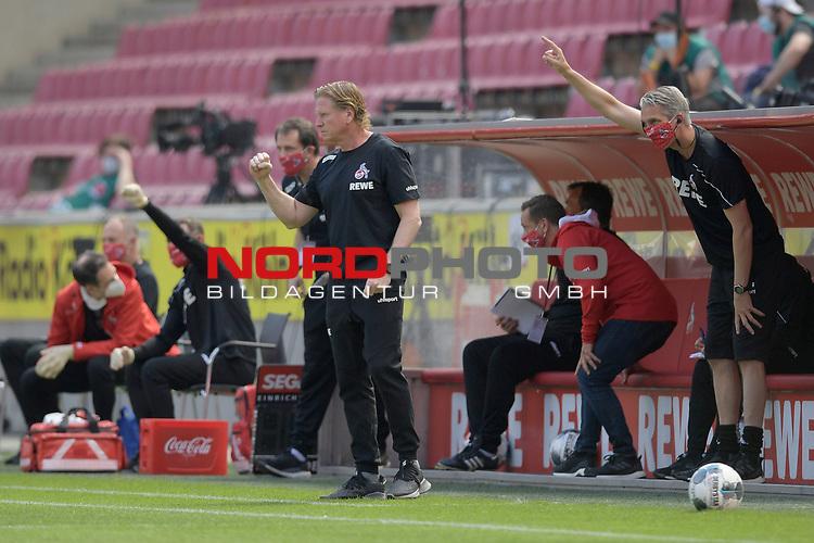 nph00351: Markus GISDOL (Mitte,Trainer 1.FC Koeln) <br /> ballt die Faust nach Fuehrungstor.<br /> Sport: Fussball: 1. Bundesliga: Saison 19/20: 26.Spieltag: 1.FC KOELN-FSV MAINZ 05,17.05.2020.<br /> Foto: Anke Waelischmiller/SVEN SIMON/POOL / via Meuter/nordphoto<br /> <br /> Nur für journalistische Zwecke! Only for editorial use!<br /> Gemäß den Vorgaben der DFL Deutsche Fußball Liga ist es untersagt, in dem Stadion und/oder vom Spiel angefertigte Fotoaufnahmen in Form von Sequenzbildern und/oder videoähnlichen Fotostrecken zu verwerten bzw. verwerten zu lassen. DFL regulations prohibit any use of photographs as image sequences and/or quasi-video.