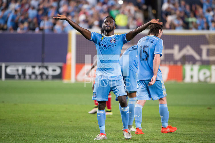 BRONX, NY - Friday September 23, 2016: New York City FC takes on the Chicago Fire at home at Yankee Stadium in regular season MLS play.