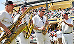 8 March 2011: The Walt Disney World Philharmonic Saxophone Quartet entertain the fans prior to a Spring Training game between the New York Yankees and the Atlanta Braves at Champion Park in Orlando, Florida. The Yankees edged out the Braves 5-4 in Grapefruit League action. Mandatory Credit: Ed Wolfstein Photo