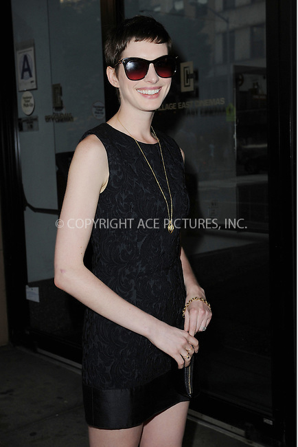 "WWW.ACEPIXS.COM . . . . . .July 10, 2012...New York City....Anne Hathaway attends the New York Premiere of Oscilloscope Laboratories ""Shut Up And Play The Hits: The Very Loud Ending of LCD Soundsystem  on July 10, 2012 in New York City. ....Please byline: KRISTIN CALLAHAN - WWW.ACEPIXS.COM.. . . . . . ..Ace Pictures, Inc: ..tel: (212) 243 8787 or (646) 769 0430..e-mail: info@acepixs.com..web: http://www.acepixs.com ."