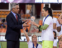 Houston, TX - October 9, 2016: The Western New York Flash defeated the Washington Spirit on penalty kicks after tying the game 2-2 in overtime during the NWSL (National Women's Soccer League) Championship match at BBVA Compass Stadium.