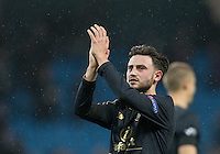 Patrick Roberts (on loan from Man City) of Celtic during the UEFA Champions League GROUP match between Manchester City and Celtic at the Etihad Stadium, Manchester, England on 6 December 2016. Photo by Andy Rowland.
