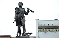 RIOHACHA -COLOMBIA. 30-05-2014. Monumento al Almirante Jose prudencio Padilla en el Parque Padilla centro de Riohacha capital del Departamento de la Guajira, Colombia. / Monument to Admiral Jose Prudencio Padilla at Padilla park at down town of Riohacha capital of the deparment of Guajira, Colombia. Photo: VizzorImage/ Gabriel Aponte / Staff
