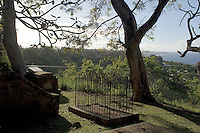 The graveyard at St. John's Parish Church, containing graves from the seventeenth century, and the view north up the coast to Martin's Bay and Bathsheba.