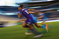 Orlando, FL - Saturday July 16, 2016: Kristen Edmonds during a regular season National Women's Soccer League (NWSL) match between the Orlando Pride and the Chicago Red Stars at Camping World Stadium.