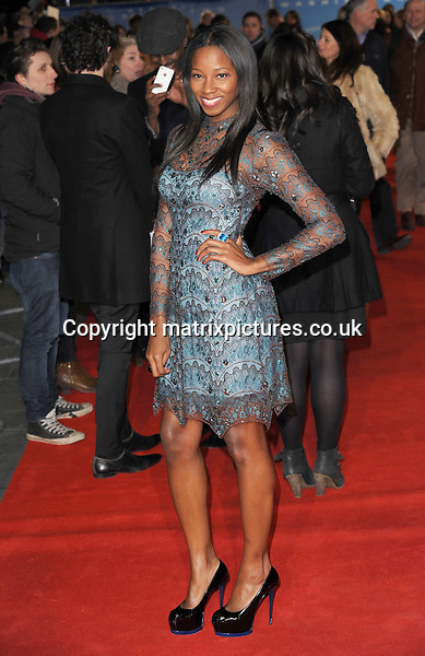 NON EXCLUSIVE PICTURE: PAUL TREADWAY / MATRIXPICTURES.CO.UK.PLEASE CREDIT ALL USES..WORLD RIGHTS..British pop singer Jamelia attending the UK film premiere of Flight, at Empire Leicester Square, London...JANUARY 17th 2013..REF: PTY 13311