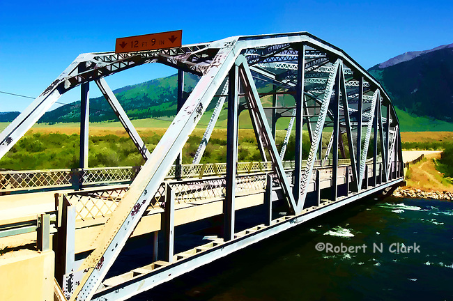 Three Dollar Bridge on the Madison River, Montana