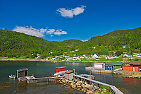 Fishing village and shoreline along White Bay. Baie Verte Peninsula.<br />