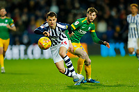 25th February 2020; The Hawthorns, West Bromwich, West Midlands, England; English Championship Football, West Bromwich Albion versus Preston North End; Conor Townsend of West Bromwich Albion chases down a loose ball under pressure from Tom Barkhuizen of Preston North End