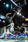 SIOUX FALLS, SD - MARCH 24: Carter Evans #54 of Northern State University attempts a layup as he falls during the Division II Men's Basketball Championship held at the Sanford Pentagon on March 24, 2018 in Sioux Falls, South Dakota. Ferris State University defeated Northern State University 71-69. (Photo by Tim Nwachukwu/NCAA Photos via Getty Images)