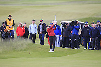 Amelia Garvey (NZL) on the 18th fairway during the Matchplay Final of the Women's Amateur Championship at Royal County Down Golf Club in Newcastle Co. Down on Saturday 15th June 2019.<br /> Picture:  Thos Caffrey / www.golffile.ie