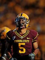 Nov. 28, 2009; Tempe, AZ, USA; Arizona State Sun Devils wide receiver Kerry Taylor against the Arizona Wildcats at Sun Devil Stadium. Arizona defeated Arizona State 20-17. Mandatory Credit: Mark J. Rebilas-