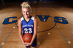 10 APRIL 2015:  Alexys Swedlund pictured at the St. Thomas More high school gym in Rapid City, S.D. (Photo by Dick Carlson/Inertia)