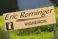 sign domaine e rominger westhalten alsace france