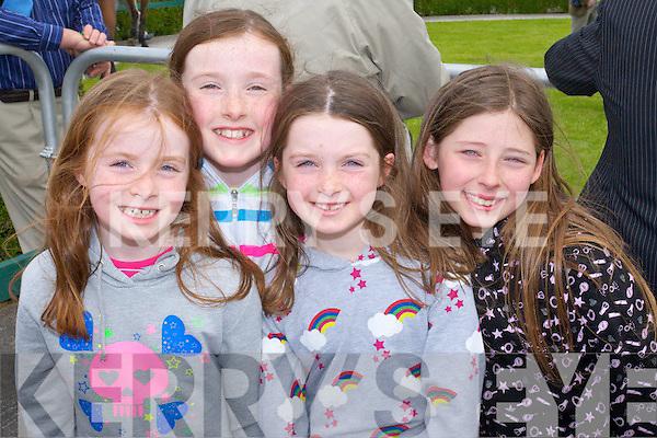 FUN: Lauren, Isobel and Hannah Lenihan (Ballyroe) with Orla O'Mahony (Tralee) having fun at the Tralee Races on Sunday.   Copyright Kerry's Eye 2008