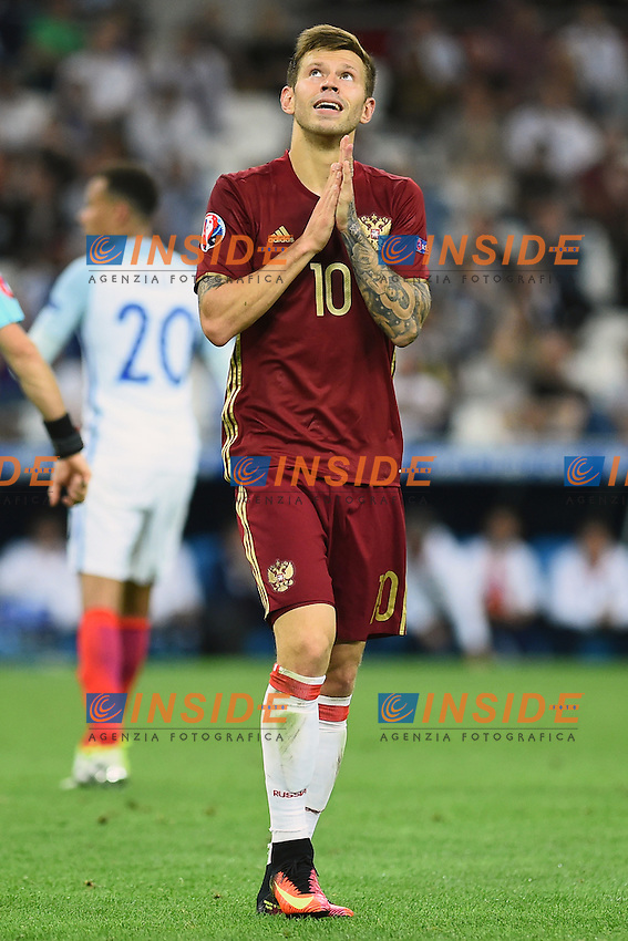 Fedor smolov Russia <br /> Marseille 11-06-2016 Stade Velodrome football Euro2016 England - Russia  / Inghilterra - Russia Group Stage Group B. Foto Massimo Insabato / Insidefoto
