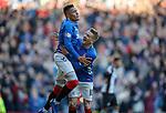 02.02.2019: Rangers v St Mirren: James Tavernier celebrates with Steven Davis