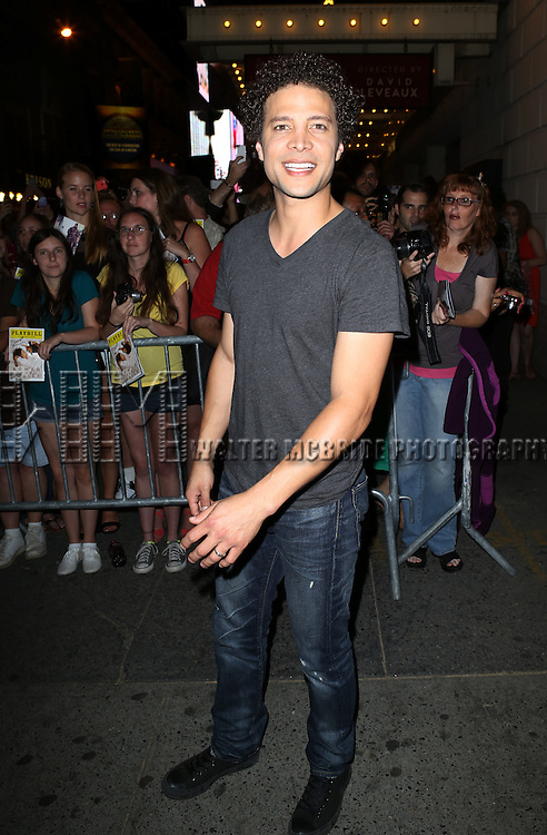 "Justin Guarini greeting fans at the stage door the after the First Performance of ""Romeo And Juliet"" On Broadway at the Richard Rodgers Theatre in New York City on 8/24/2013"