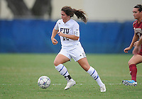 Florida International University women's soccer player Kelly Ann Hutchinson (12) plays against the University of Denver on October 16, 2011 at Miami, Florida. FIU won the game 1-0. .