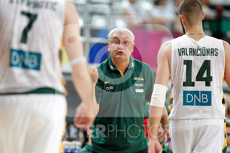 Lithuania's coach Jonas Kazlauskas during 2014 FIBA Basketball World Cup Quarter-Finals match.September 9,2014.(ALTERPHOTOS/Acero)