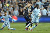 Sporting KC midfielder Peterson Joseph in action..Sporting Kansas City defeated Philadelphia Union 2-1 at LIVESTRONG Sporting Park, Kansas City, KS.