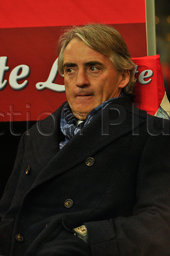 06.03.2016. Milan, Italy.  Roberto Mancini head coach of FC Inter during the Italian Serie A League soccer match between Inter Milan and US città Palermo at San Siro Stadium in Milan, Italy.