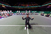 Rotterdam, The Netherlands, 13 Februari 2019, ABNAMRO World Tennis Tournament, Ahoy,  Kids Day, Vincenzo,<br /> Photo: www.tennisimages.com/Henk Koster