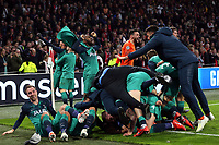 Lucas of Tottenham Hotspur is congratulated after scoring the third goal during AFC Ajax vs Tottenham Hotspur, UEFA Champions League Football at the Johan Cruyff Arena on 8th May 2019