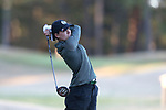 BROWNS SUMMIT, NC - APRIL 01: Colorado State's Elisabeth Rau tees off on the 9th hole. The first round of the Bryan National Collegiate Women's Golf Tournament was held on April 1, 2017, at the Bryan Park Champions Course in Browns Summit, NC.