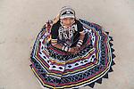 Portrait of Rajasthani girl in traditional saree, Thar Desert, Rajastan, India --- Model Released