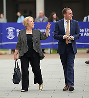 Pictured: Suzy Davies AM (L) arrives at Swansea University Bay Campus. Saturday 14 October 2017<br /> Re: Hilary Clinton, the former US secretary of state and 2016 American presidential candidate will be presented with an honorary doctorate during a ceremony at Swansea University's Bay Campus in Wales, UK, to recognise her commitment to promoting the rights of families and children around the world.<br /> Mrs Clinton's great grandparents were from south Wales.