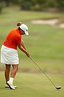 SAN ANTONIO , TX - SEPTEMBER 4, 2009: The University of Texas at San Antonio Women's Golf team plays in a qualifying tournament at the Briggs Ranch Golf Club. (Photo by Jeff Huehn)