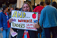 Chicago Teachers Union Picket Outside CPS Headquarters Chicago Illinois 9-26-18
