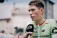 Pierre Rolland (FRA/Cannondale-Drapac) interviewed at the start<br /> <br /> 104th Tour de France 2017<br /> Stage 13 - Saint-Girons › Foix (100km)