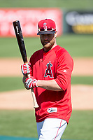 Los Angeles Angels infielder Zack Cozart (7) during Spring Training Camp on February 22, 2018 at Tempe Diablo Stadium in Tempe, Arizona. (Zachary Lucy/Four Seam Images)