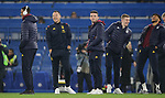 Aston Villa Assistant Head coach John Terry (2nd L) shares a joke with players on the pitch ahead of the Premier League match at Stamford Bridge, London. Picture date: 4th December 2019. Picture credit should read: Paul Terry/Sportimage