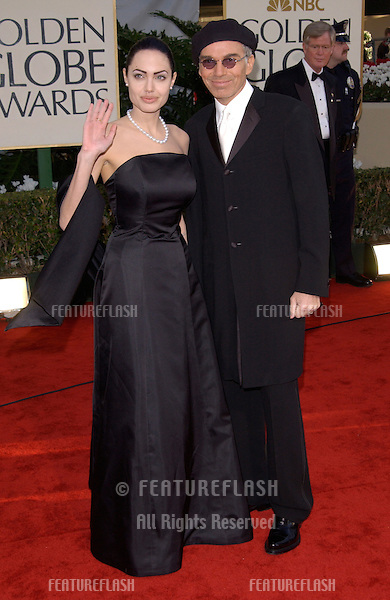 Actress ANGELINA JOLIE & actor husband BILLY BOB THORNTON at the 59th Annual Golden Globe Awards in Beverly Hills..20JAN2002.© Paul Smith/Featureflash