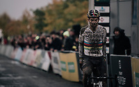 CX world champion Wout Van Aert (BEL/Crelan-Charles) wins the Elite Men's race at the Superprestige Gavere / Belgium 2017