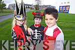 As part of their arts weeks pupils from Balloonagh Primary school enjoyed a Halloween fancy dress day on Friday last. Pictured were: Ellie Stack, Caylin Murray,  Mackenzie Deutrom.